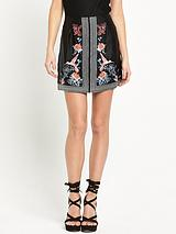 River Island Embroidered Mini skirt