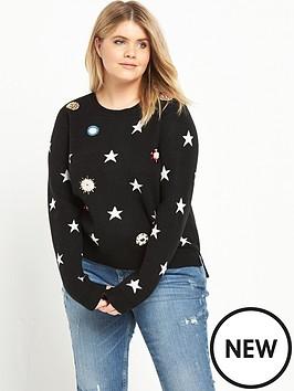 ri-plus-star-embellished-jumper-black