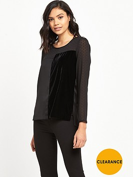 river-island-long-sleeve-top-with-spot-detail