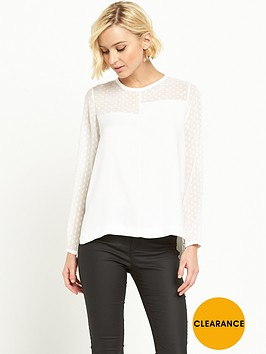 river-island-chiffon-block-panel-top-white