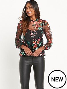 river-island-long-sleeve-floral-top