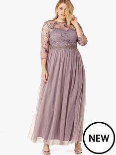little-mistress-curve-long-sleeve-lace-front-maxi-dress-grey