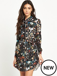 river-island-floral-print-shirt-dress