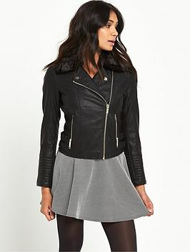 miss-selfridge-petite-fur-faux-collar-pu-jacket-black