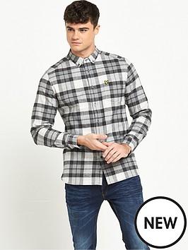 lyle-scott-check-long-sleeve-flannel-shirt