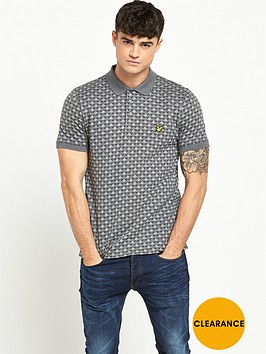 lyle-scott-jacquard-polo-shirt