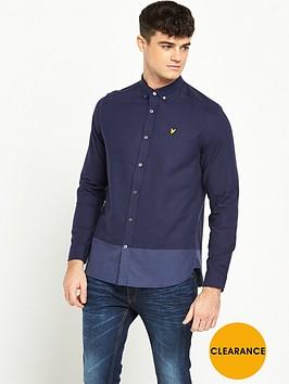 lyle-scott-stripe-long-sleeve-twill-shirt