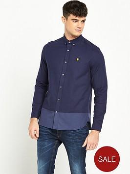 lyle-scott-stripe-long-sleeve-twill-shirt