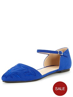 v-by-very-lottie-embroidered-pointed-flat