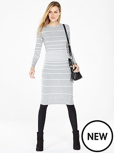 v-by-very-crew-neck-stripe-midi-dress