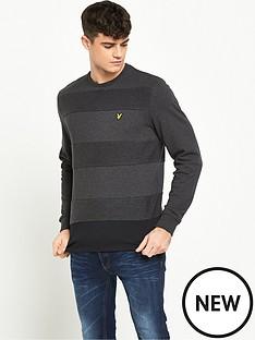 lyle-scott-reverse-stripe-crew-neck-sweatshirt