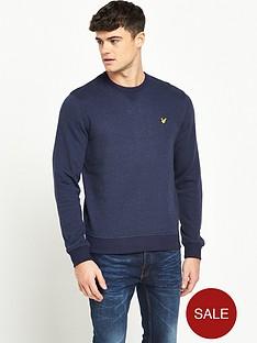 lyle-scott-brushed-flecked-crew-neck-sweatshirt