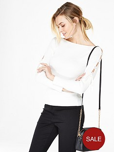v-by-very-lace-up-shoulder-slash-neck-jumper
