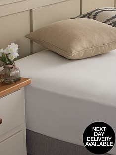 silentnight-easycare-180-thread-count-cotton-rich-single-size-fitted-sheet--nbspwhite