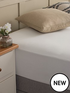 silentnight-easycare-180-threadcount-cotton-rich-king-size-fitted-sheet--nbspwhite