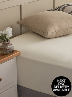 silentnight-easycare-180-thread-count-cotton-rich-double-size-fitted-sheet--nbspcream