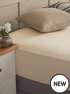 silentnight-easycare-180-thread-count-cotton-rich-double-size-fitted-sheet--nbspstone