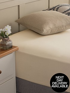 silentnight-easycare-180-thread-count-cotton-rich-king-size-fitted-sheet-stone