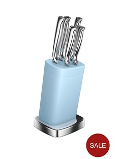 morphy-richards-accents-special-edition-5-piece-knife-block-ndash-azure