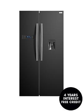 russell-hobbs-rh90ff176b-wd-176cm-high-90cm-wide-american-style-fridge-freezer-with-water-dispenser