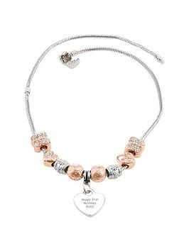 personalised-rose-gold-charm-necklace