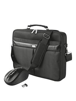 Trust Sydney Cls Carry Bag For 16 Inch Laptops With Primo Wireless Mouse Black