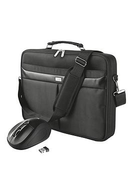 Trust Sydney Cls Carry Bag For 14 Inch Laptops With Primo Wireless Mouse Black