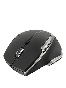 Trust Evo Advanced Wireless Compact Laser Mouse  Black
