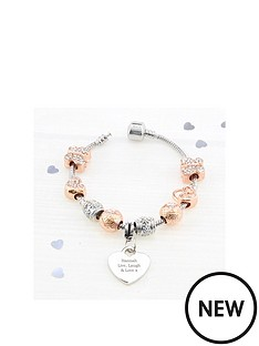 personalised-rose-gold-charm-bracelet