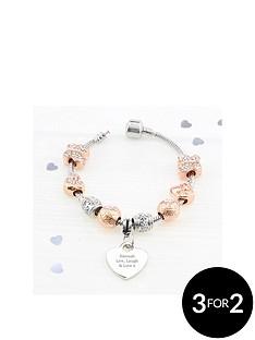 personalisednbsprose-gold-tone-charm-bracelet