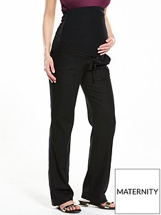 v-by-very-maternity-linen-mix-trousers