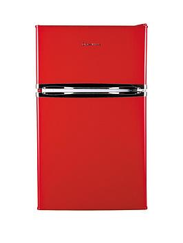 Russell Hobbs Rhucff50R 50Cm Wide UnderCounter Freestanding Fridge Freezer  Red