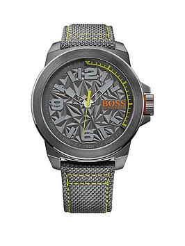 Hugo Boss Hugo Boss Grey Dial Green Accent Grey Strap Mens Watch