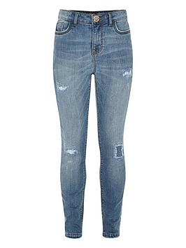river-island-girls-rip-and-repair-blue-amelienbspskinny-jeans