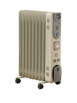 Swan Sh1010 2Kw Oil Filled Radiator With Timer