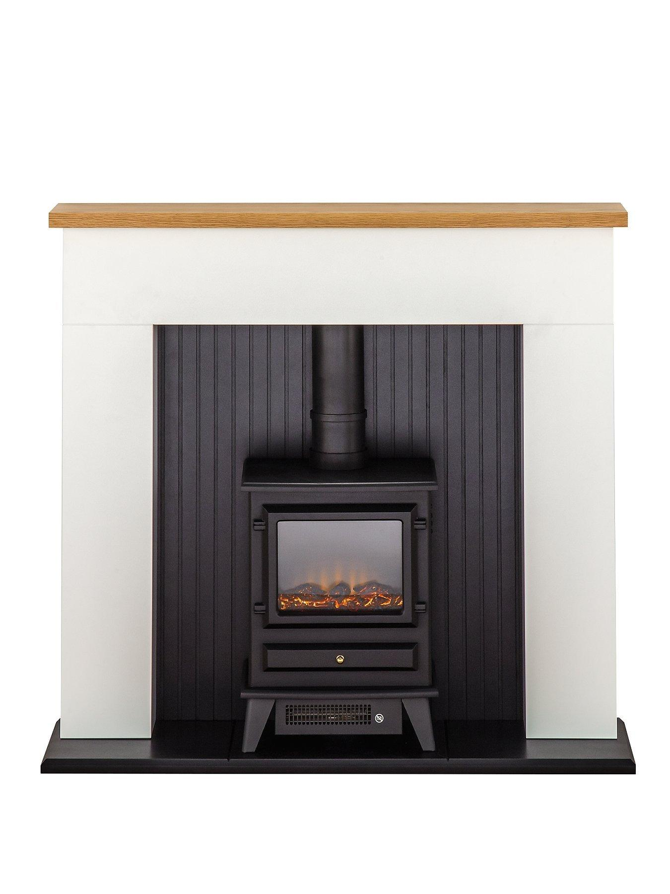 Compare prices for Adam Fire Surrounds Innsbruck White Electric Fireplace Suite With Stove