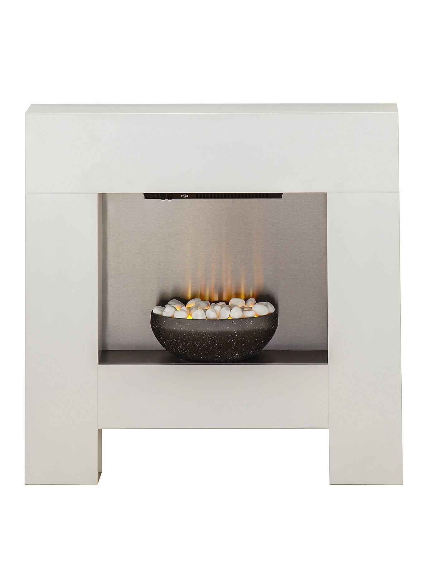 Compare prices for Adam Fire Surrounds Cubist Electric Fireplace Suite