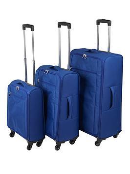 Constellation Ultralight 4Wheel 3 Piece Luggage Set  Blue