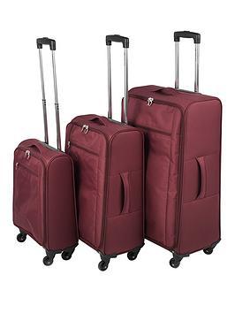 Constellation Ultralight 4Wheel 3 Piece Luggage Set Burgundy