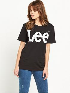 lee-logo-tee-black