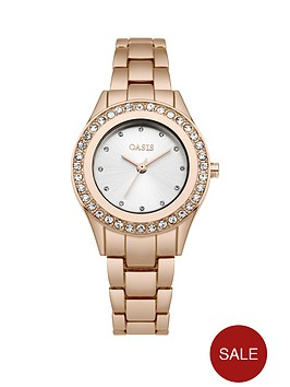 oasis-oasis-white-sunray-dial-stone-set-bezel-rose-gold-tone-metal-bracelet-ladies-watch
