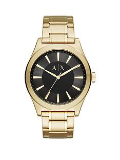 armani-exchange-black-dial-gold-tone-stainless-steel-bracelet-mens-watch