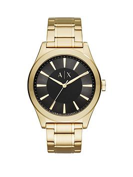 armani-exchange-nico-black-dial-gold-tone-stainless-steel-bracelet-mens-watch