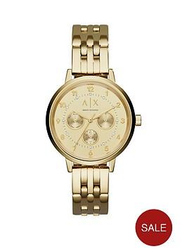 armani-exchange-gold-tone-multi-dial-stainless-steel-bracelet-ladies-watch