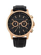 French Connection Black Multi Dial Black Strap Gents Watch