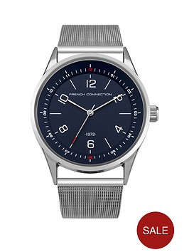 french-connection-french-connection-blue-dial-silver-tone-mesh-strap-gents-watch