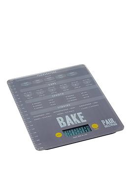 Paul Hollywood Paul Hollywood Kitchen Scales 20Cm Tempered Glass