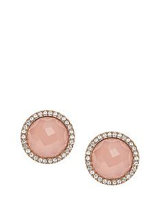 fossil-rose-gold-plated-crystal-surround-pink-stud-earring