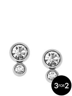 fossil-fossil-silver-plate-graduated-crystal-stud-earrings