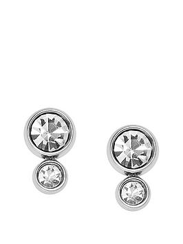 fossil-fossil-silver-plate-graduated-crystal-stud-earrings